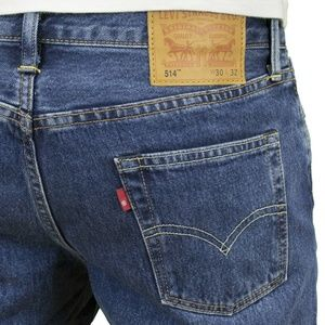 Levi's 514 34 x 30 Straight Fit Five Pocket jeans